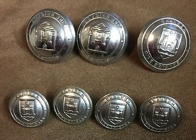 Vintage Swansea Fire Brigade Buttons
