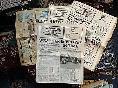 COLLECTION OF 5 x THE ISLE OF MAN TT SPECIAL NEWSPAPER 1982 to 1983