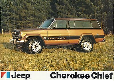 JEEP CHEROKEE CHIEF original circa 1979 UK 2-sided leaflet brochure