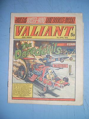 Valiant issue dated April 12 1975 missing booklet pages