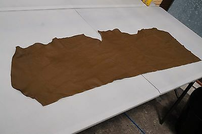 Brown Elmo upholstery cowhide piece/off-cut 112 x 28cm Grainy Cow leather