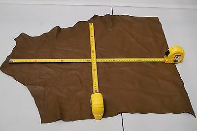 Brown Elmo upholstery cowhide piece/off-cut 50 x 45cm Grainy Cow leather
