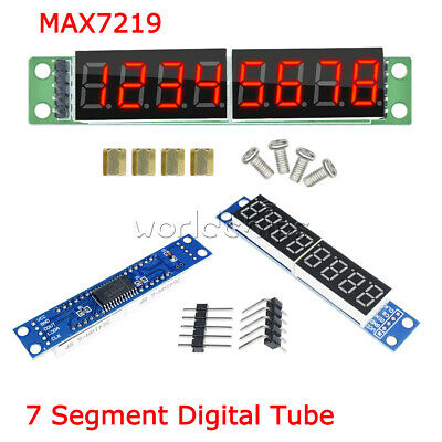 8-Digit LED Display MAX7219 7 Segment Digital Tube For Arduino Raspberry Pi