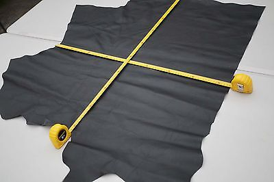 Black Cowhide upholstery piece/remnant 83 x 80cm Top grain Regular Cow leather
