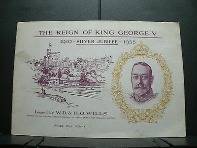 """Wills Cigarette Cards """"The Reign of King George V"""" 1910-Silver Jubilee-1935 Book"""