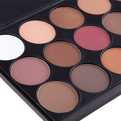 Pro 15 Colors Eye Shadow Makeup Shimmer Matte Pigments Eyeshadow Palette Set New