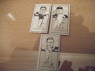 "Pick-A-Card From Hill (Sunripe) ""caricatures Of Famous Cricketers""  1926"