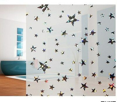 Privacy Window Film, Frosted Star Design, Self Adhesive, Window Cover, Modern