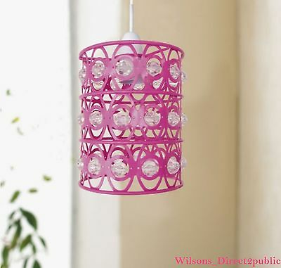 Crystal Pink Easy Fit Ceiling Chandelier Lamp Pendant Shade Girl Room Decor 14cm