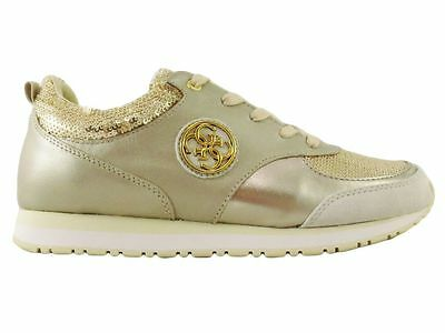 Guess Scarpe-Sneakers Donna Pelle-Tessuto Paillettes Gold n.40 (50% Off!)