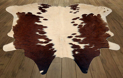 New Cowhide rug Hair on Leather Rug Area Cow skin Leather(17.00)sq ft A-3042