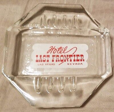Last Frontier Hotel Ashtray Las Vegas Nevada Safex Glass 1940's
