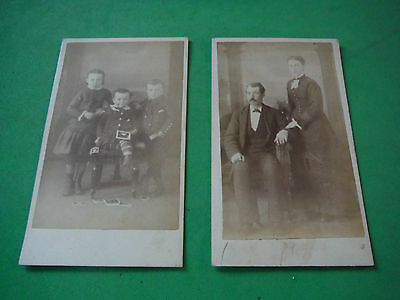 CDV Set of 2 / 19th c. Couple & their children