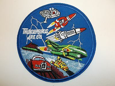"""Thunderbirds Are Go~Embroidered Patch~4"""" Round~Iron~Sew~Collectible~Ships FREE"""