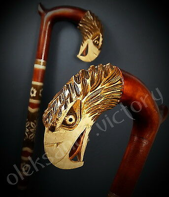 American Eagle Hand Carvin Canes Walking Sticks Wooden Unique Handmade Cane Gift