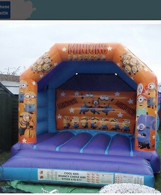 Minions Bouncy Castle 12x12 With Blower And Pegs