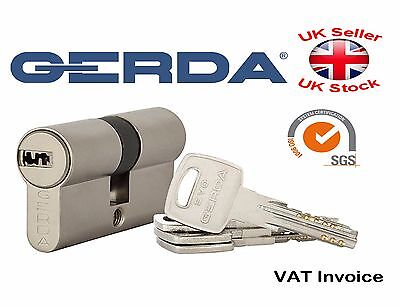 Gerda High Quality Euro Profile Cylinder Door Lock Barrel 5 Keys EVO