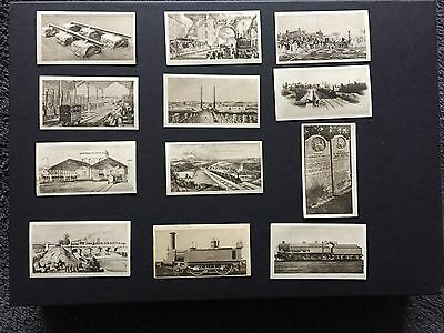 R & J HILL THE RAILWAY CENTENARY 2nd SERIES OF 25 ( smaller set ) - 12 CARDS