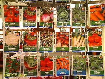 10- Packs Of Quality Vegetable Seeds. Ideal Allotment Selection.