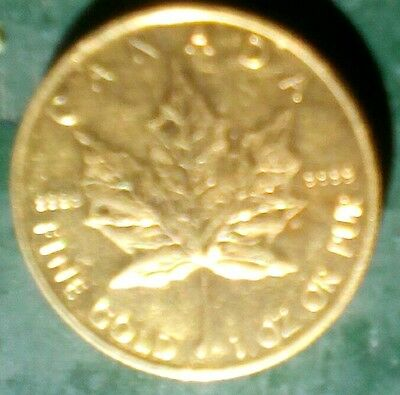 1 oz Gold Canadian Maple Leaf Coin Year 2011
