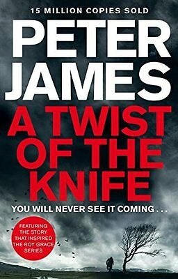 Twist of the Knife by Peter James New Hardback Book