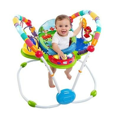 Baby Einstein Neighbourhood Friends Activity Jumper Padded Multi-Sensory Fun NEW