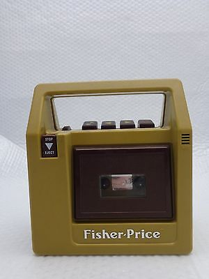 Vintage 1980's FISHER-PRICE Portable CASSETTE TAPE Recorder / Player (#826)