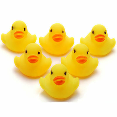 FAB 5 RUBBER YELLOW DUCKS FUN KIDS BATH SQUEAKY TOY NEW BABY DUCK TIME Bathtime