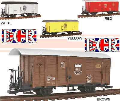 G Scale Gauge Railway Box Car Brown Cargo Boxcar Garden Rolling Stock Train