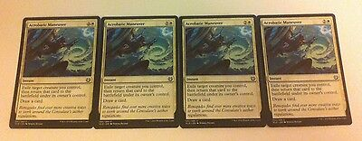 4 x MTG Card - ACROBATIC MANEUVER - Kaladesh - NEW
