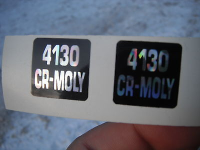 (2)  4130 CR-MOLY Bicycle Frame Decals Stickers Not Remade! Free Shipping!