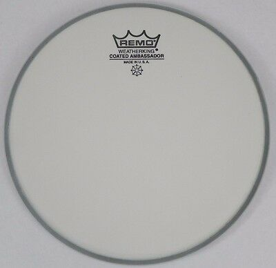 "NEW: Remo Weather King Ambassador Coated Drum Head  8"" inch Drumhead Percussion"
