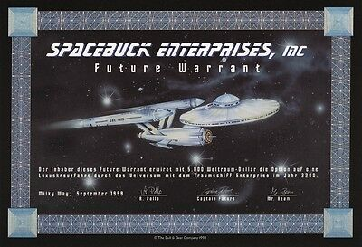 Jux-Aktie – Spacebuck Enterprices Inc. – Warrant von 1999 – JUX-PAPIER !!!