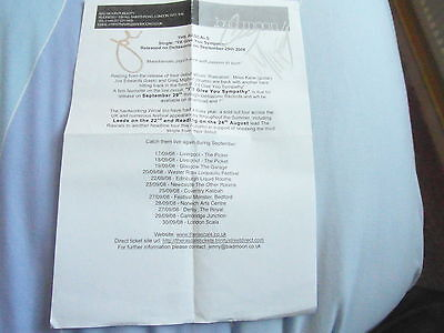 Rare Signed Rascals Miles Kane Press Release Sheet For I'll Give You Sympathy