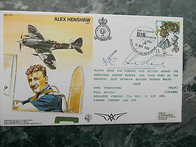 Raf Tp14 Alex Henshaw Vickers Armstrong Chief Test Pilot Signed Own Cover.