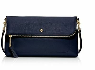 NEW Tory Burch Emerson Flap Messenger in Tory Navy