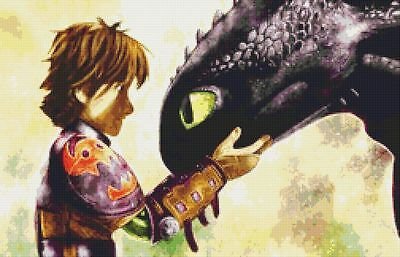 How To Train A Dragon Inspired Cross Stitch Chart