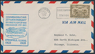 1928 Kitty Hawk Commemorative Cover, Canadian Airmail #C1 Used For US Postage