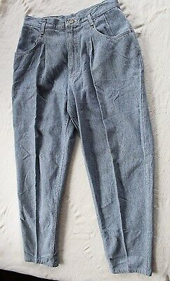 """Vintage Lee Pants USA high rise pleated front Checked women sz 12 M  30"""" x  29"""""""