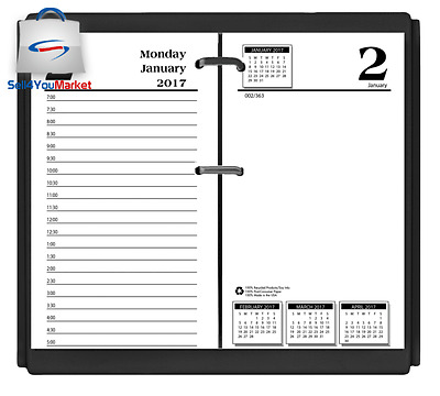 2017 Year Desk Desktop Calendar Without Base Refill Monthly Daily Yearly Office