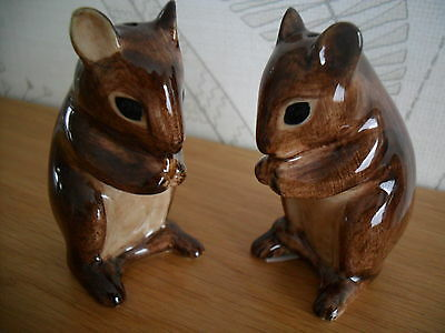 Collectable Quail Pottery Ceramic mouse Salt And Pepper Pos boxed