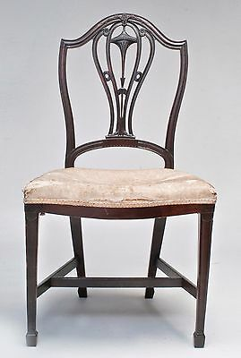 18th century American Hepplewhite-Chippendale carved mahogany side chair  c.1790