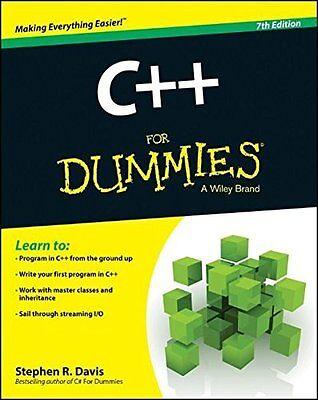 C++ For Dummies by Stephen R. Davis New Paperback Book