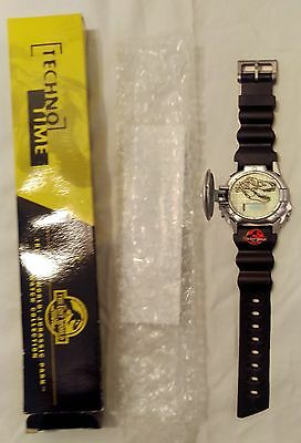 Vintage Jurassic Park Lost World Watch Burger King Techno Time Flip Cover NEW