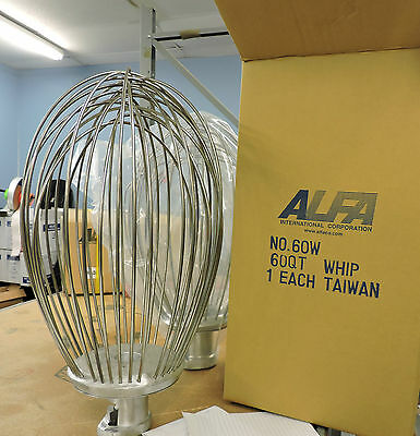 Alfa 60W  60qt Stainless Steel Wire Whip for Hobart Mixer