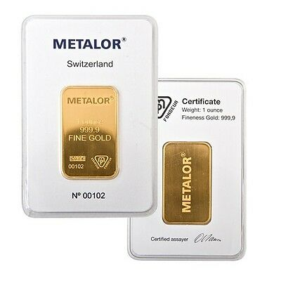 Certificated ✔ One Ounce 1 oz Gold Bullion Bar Coin ✔ Precious Metals Investment