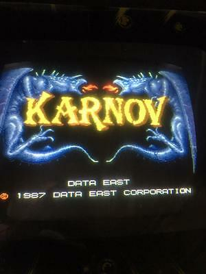 KARNOV PCB ORIGINAL DATA EAST 1987 arcade game .Great condition