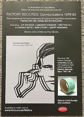 FACTORY RECORDS - 2009 full page mag ad JOY DIVISION NEW ORDER HAPPY MONDAYS