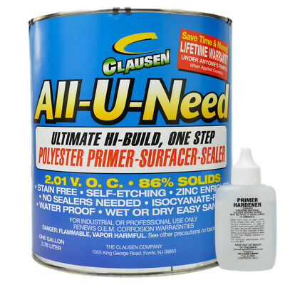 All U Need Primer 3.8L RED 1 step etch and filler primer water resistant