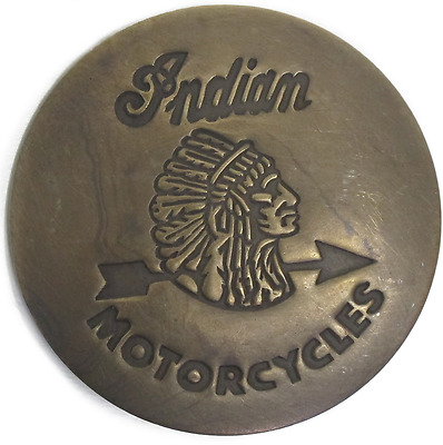 Indian Motorcycles Authentic Replica Antiqued Finish Old West Badge